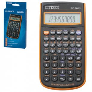 Калькулятор CITIZEN инженерный SR-260NOR, 10+2 разрядов, питание от батарейки, 154*80мм, ОРАНЖЕВЫЙ