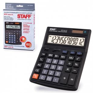 Калькулятор STAFF настольный STF-444-12, 12 разрядов, двойное питание, 199x153мм