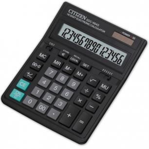 Калькулятор CITIZEN настольный SDC-664S, 16 разрядов, двойное питание, 199x153мм