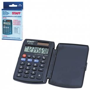 Калькулятор STAFF карманный STF-883, 8 разрядов, двойное питание, 95х62мм