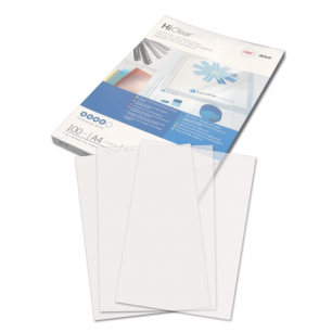 Обложки д/переплета GBC (ДжиБиСи), КОМПЛЕКТ 100шт, PVC Transparent, A4, пластик 150мкм, проз, CE011580Е