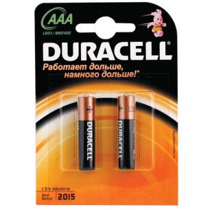 Батарейки DURACELL AAA LR3, КОМПЛЕКТ 2шт., в блистере, 1.5В, (работают до 10 раз дольше)