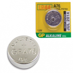 Батарейка GP (Джи-Пи)  Alkaline A76 (G13, LR44), 1 штука в блистере,  1,5В, A76-BC10