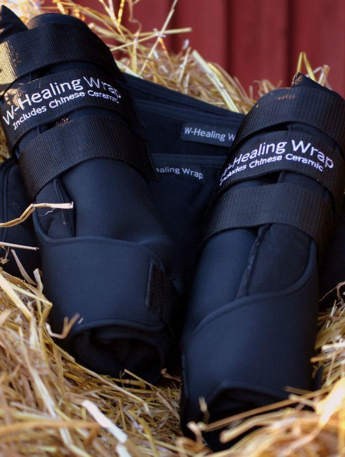 """Задние неопреновые согревающие ногавки для выездки """"W-Healing"""".  Пара М"""