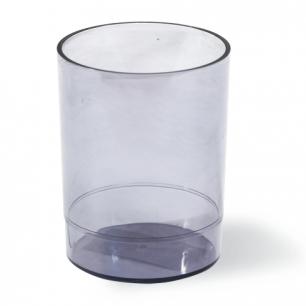 """Подставка-органайзер СТАММ """"Офис"""" (стакан для ручек), 70*70*90 мм, тонированный, серый СН15"""