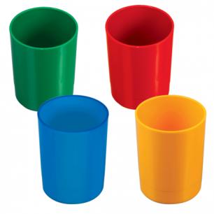 Подставка-органайзер СТАММ (стакан для ручек), 70*70*90 мм, ассорти, 4 цвета СН01