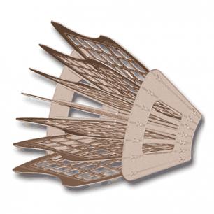 Лоток для бумаг BRAUBERG-SMART, 7-ми секционный, сетчатый, тонированный, 230467