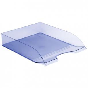 """Лоток горизонтальный для бумаг СТАММ """"Дельта"""", тонированный голубой, ЛТ654"""
