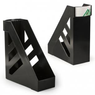 """Лоток вертикальный для бумаг СТАММ """"Ультра"""", ширина 100 мм, черный, ЛТ02"""