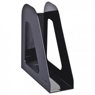 """Лоток вертикальный для бумаг СТАММ """"Фаворит"""", ширина 90 мм, черный, ЛТ705"""
