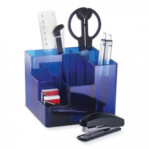 Канцелярский набор BRAUBERG 9 предм, вращ. конструк., син., картонная коробка, 224318
