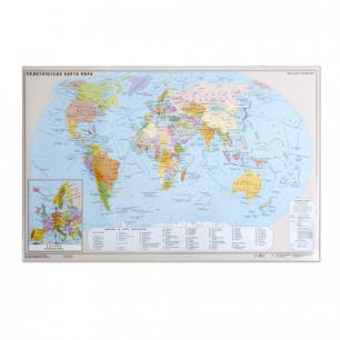 Коврик-подкладка настольный для письма с картой мира, (380*590 мм), ДПС, 2129.М