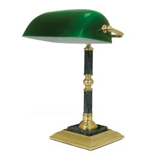 Светильник настольный из мрамора GALANT (основание-зеленый мрамор с золотистой отделкой)  231197