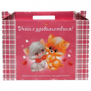 """Набор для Первоклассника в подарочной упаковке """"Хатбер"""" Пушистики, Нп4_00060 (N140529)"""
