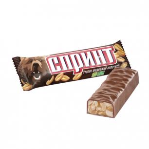 Шоколадный батончик СПРИНТ мягкая карамель и арахис в шоколадной глазури, 50г, ш/к 35062
