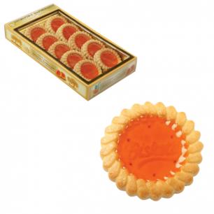 Печенье БИСКОТТИ (Россия)   с апельсиновым мармеладом, сдобное, 235г, картонная коробка, ш/к 44115