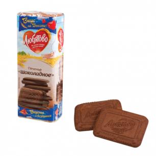 """Печенье ЛЮБЯТОВО """"Шоколадное"""", сахарное, 335г, в спайке, 24035"""