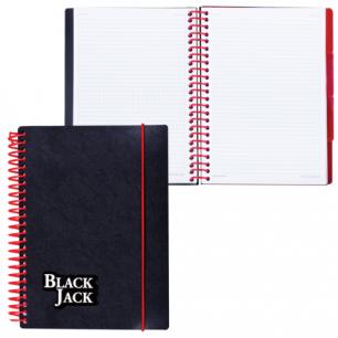 Тетрадь-блокнот 150л. A5 170x215мм BRAUBERG кл, гр, об.пласт на рез.4разд, Black Jack (Блэк Джэк), 401793