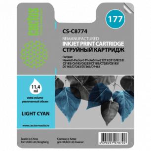 Картридж струйный HP (C8774HE)  Photosmart C7283/C8183 №177 фото св-голубой 11,4мл CACTUS СОВМЕСТИМЫЙ