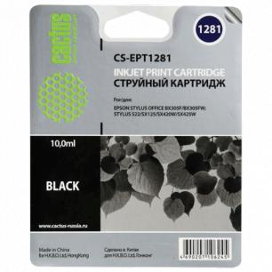 Картридж струйный EPSON (C13T12814011)  Stylus S22/SX125/SX420W/BX305F и др черн CACTUS СОВМЕСТИМЫЙ