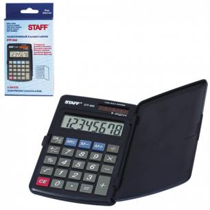 Калькулятор STAFF карманный STF-899, 8 разрядов, двойное питание, 117х74мм