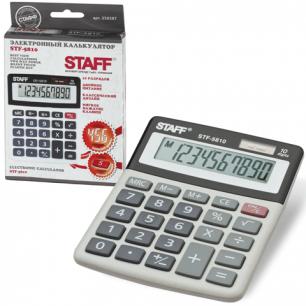 Калькулятор STAFF настольный STF-5810, 10 разрядов, двойное питание, 134х107мм