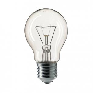 Лампа накаливания PHILIPS A55 CL E27, 60Вт, грушевид., прозрач., колба d=55мм, цоколь d=27мм, 354563