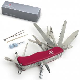 """Подарочный нож VICTORINOX """"Work champ"""", 111мм, складной, с фикс. лезвия, красный, 21 функция, 0.9064"""