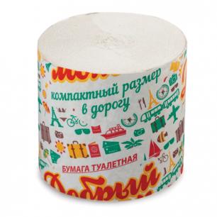 Бумага туалетная, 27м, без втулки (супер-эконом), ш/к 50378