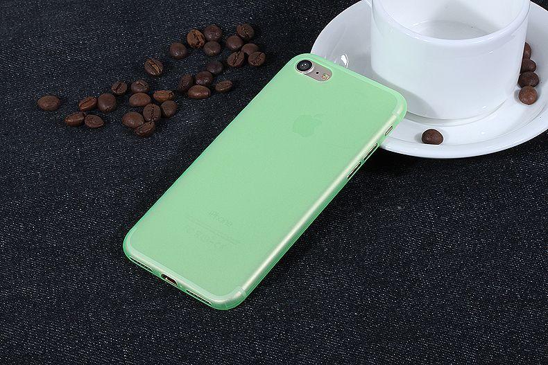 Ультра тонкий чехол 0.3мм для iphone 7 plus зеленый