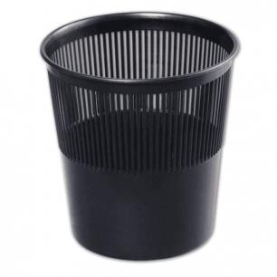 Корзина для бумаг СТАММ сетчатая, 9л, черная, КР21