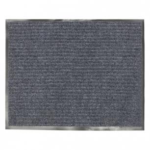 Коврик входной ворсовый влаго-грязезащитный VORTEX, 120х150см, толщина 7мм, серый, 22099