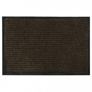 Коврик входной ворсовый влаго-грязезащитный VORTEX, 90х60см, толщина 7мм, коричневый, 22090