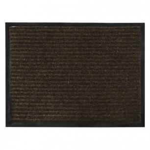 Коврик входной ворсовый влаго-грязезащитный VORTEX, 90х120см, толщина 7мм, коричневый, 22096