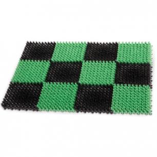 """Коврик входной пластиковый грязезащитный IDEA """"Травка"""", 550*410*18мм, зеленый-черный, М 2280"""