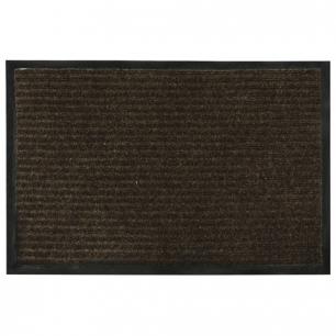 Коврик входной ворсовый влаго-грязезащитный VORTEX, 60х40см, толщина 7мм, коричневый, 22078