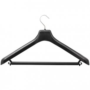 Вешалка-плечики универсальная, пластиковая, р. 48-50, длина 45см, ширина 4,0см, цвет черный, С 024
