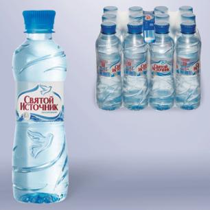 """Вода негазированная питьевая """"Святой источник"""", 0,33л, пластиковая бут., ш/к 00793"""