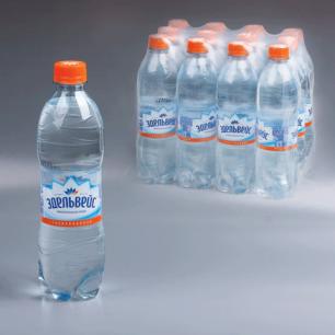 Вода газированная питьевая ЭДЕЛЬВЕЙС, 0,5л, пластиковая бут., ш/к 00218