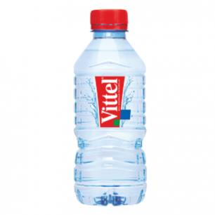 Вода негазированная минеральная VITTEL (Виттель), 0,33л, пластиковая бутылка, ФРАНЦИЯ, ш/к 38624