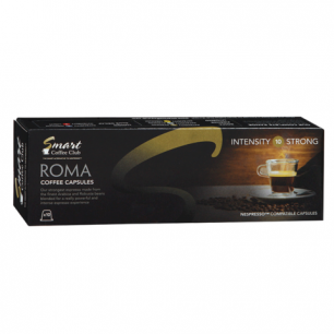 Капсулы для кофемашин NESPRESSO ROMA, натуральный кофе, 10 шт*5г, SMART COFFEE CLUB 22139