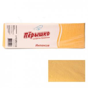 """Салфетки """"Перышко"""" Big Pack, 24х24, 400шт., желтые интенсив, 125254, ш/к 82257"""