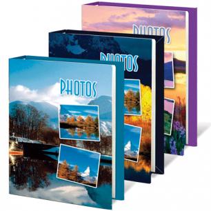 Фотоальбом BRAUBERG на 60 фото 10*15 см, твердая обложка, природа, ассорти, 390660