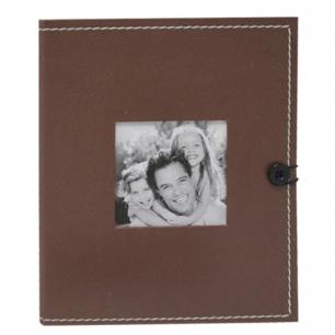 Фотоальбом BRAUBERG на 36 фото 10*15 см, твердая обложка под кожу, коричневый, 390658