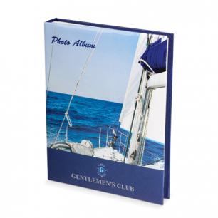 Фотоальбом BRAUBERG на 100+4 фото 10*15 см, твердая обложка, вид с яхты, 390664