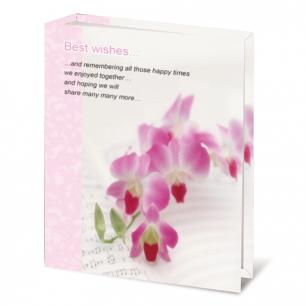 Фотоальбом BRAUBERG на 100 фото 10*15 см, твердая обложка, орхидеи, 390663