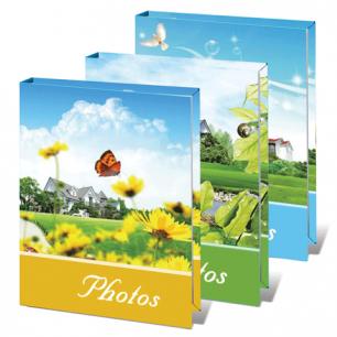 Фотоальбом BRAUBERG на 36 фото 10*15 см, твердая обложка, летний пейзаж, ассорти, 390656