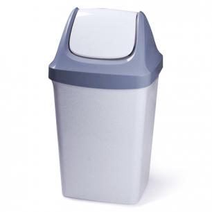 Ведро-контейнер для мусора IDEA, 50 л., серое (в 74*ш 40*г 35 см), качающаяся крышка, M 2464