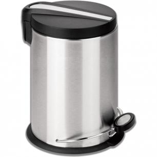 """Ведро-контейнер для мусора с педалью ЛАЙМА """"Modern"""", 12 л., матовое, нержавеющая сталь, 232264"""