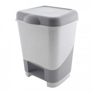 Ведро-контейнер для мусора с педалью, 20 л., серое (в43*ш32*г32см), 4342800